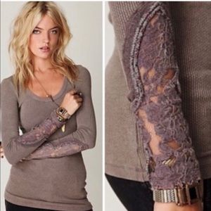 Free People Crafty Cuff Thermal brown XS